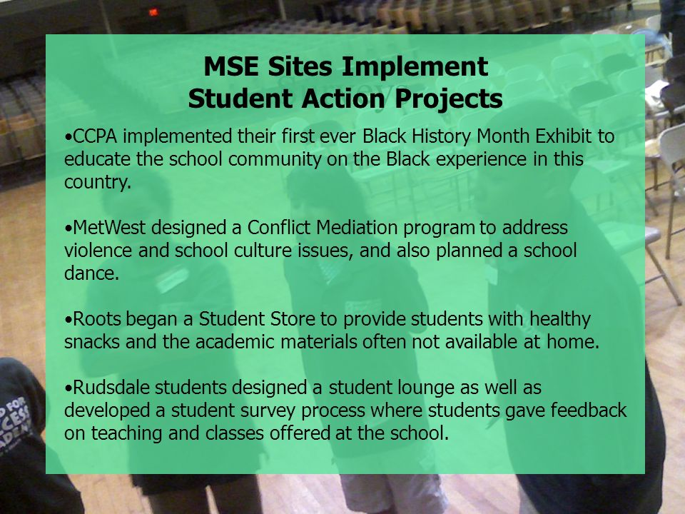 Student Action Projects
