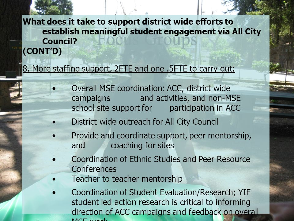 What does it take to support district wide efforts to establish meaningful student engagement via All City Council