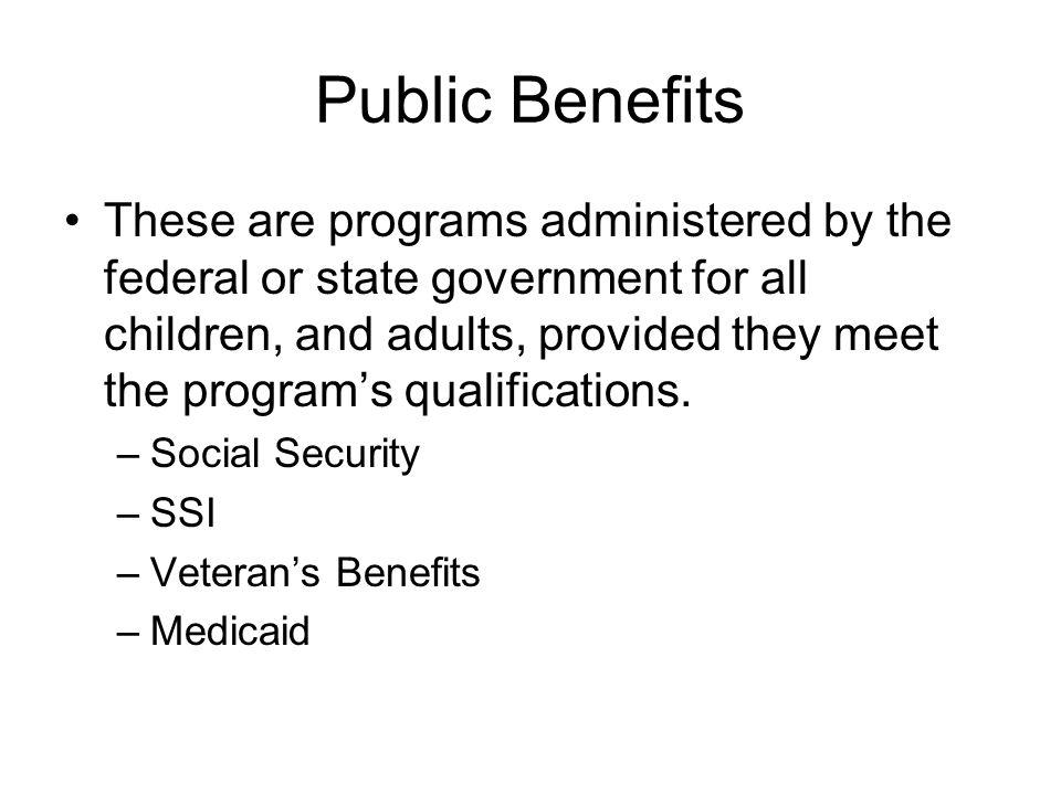 Public Benefits