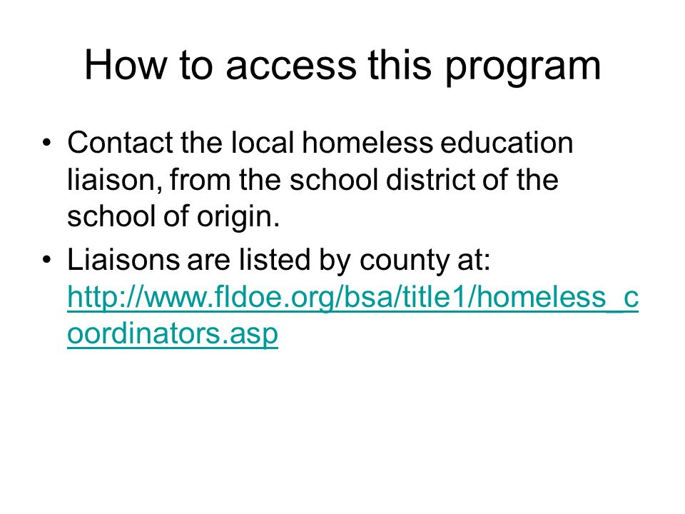 How to access this program