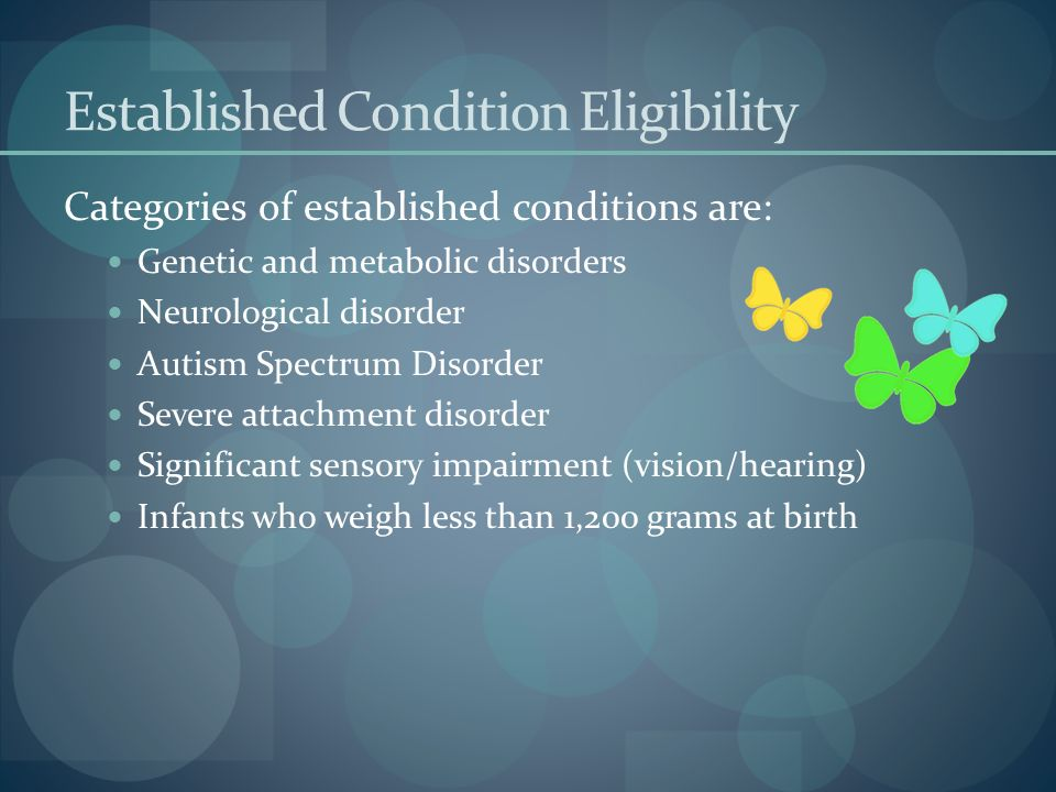 Established Condition Eligibility