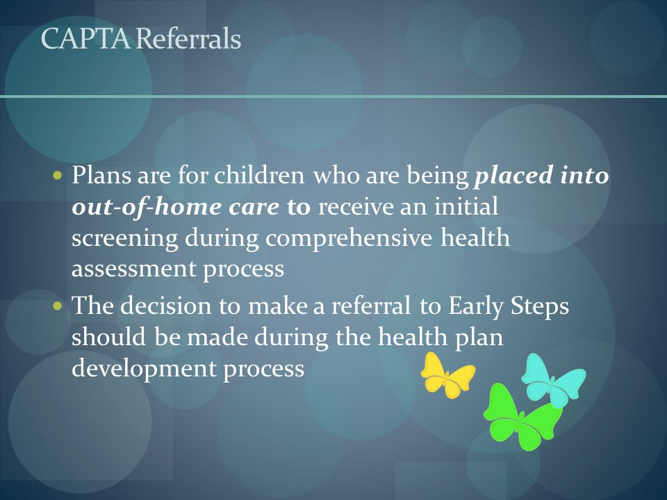 CAPTA Referrals