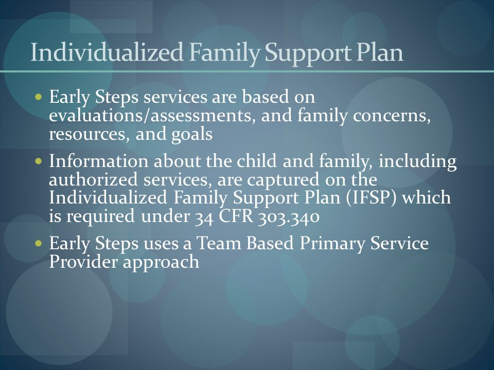 Individualized Family Support Plan