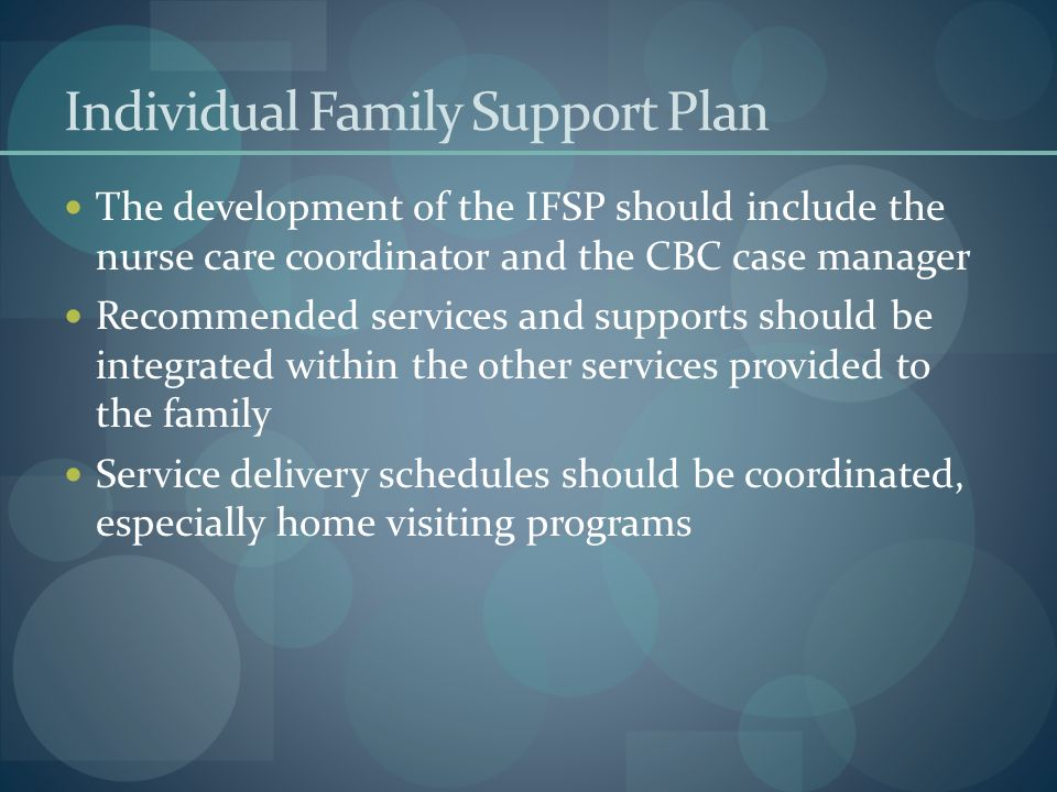 Individual Family Support Plan
