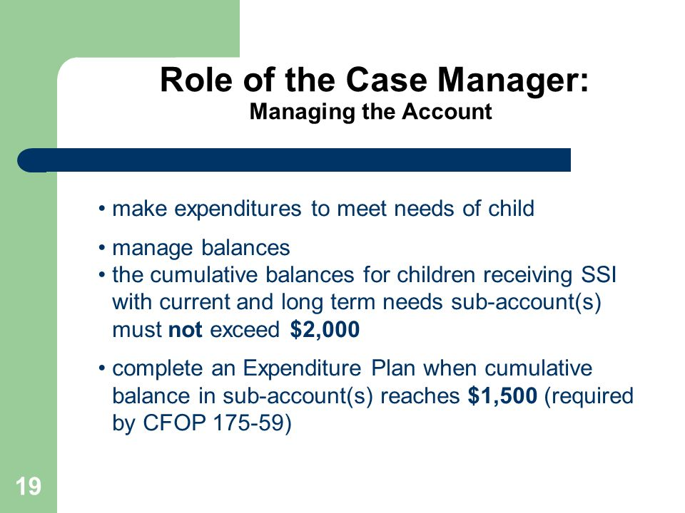 Role of the Case Manager: