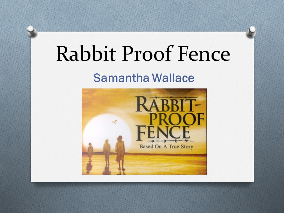 Rabbit Proof Fence Samantha Wallace