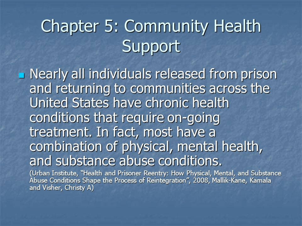 Chapter 5: Community Health Support