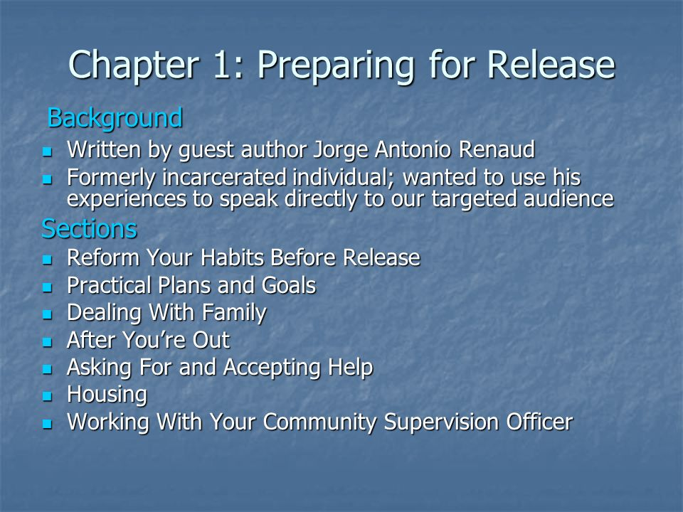 Chapter 1: Preparing for Release