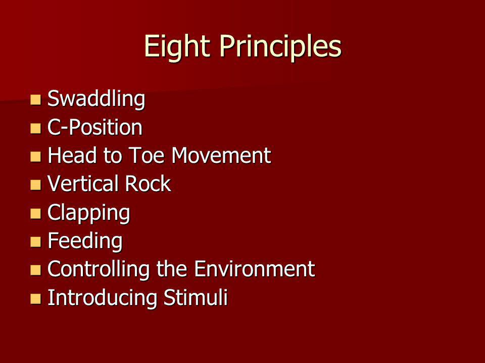 Eight Principles Swaddling C-Position Head to Toe Movement