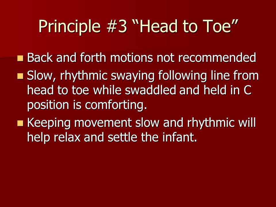 Principle #3 Head to Toe
