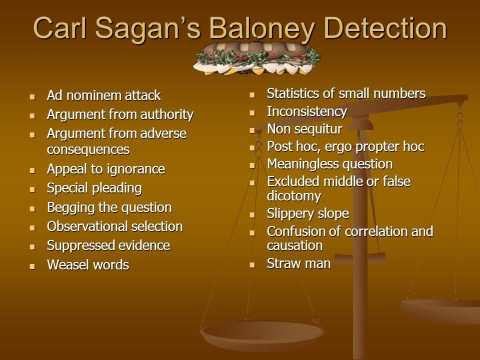 Carl Sagan's Baloney Detection Kit
