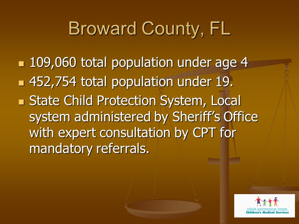 Broward County, FL 109,060 total population under age 4