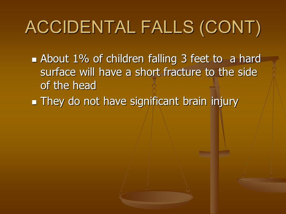 ACCIDENTAL FALLS (CONT)