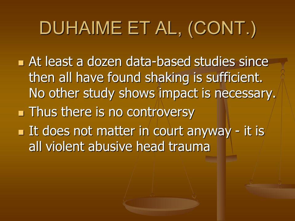 DUHAIME ET AL, (CONT.)