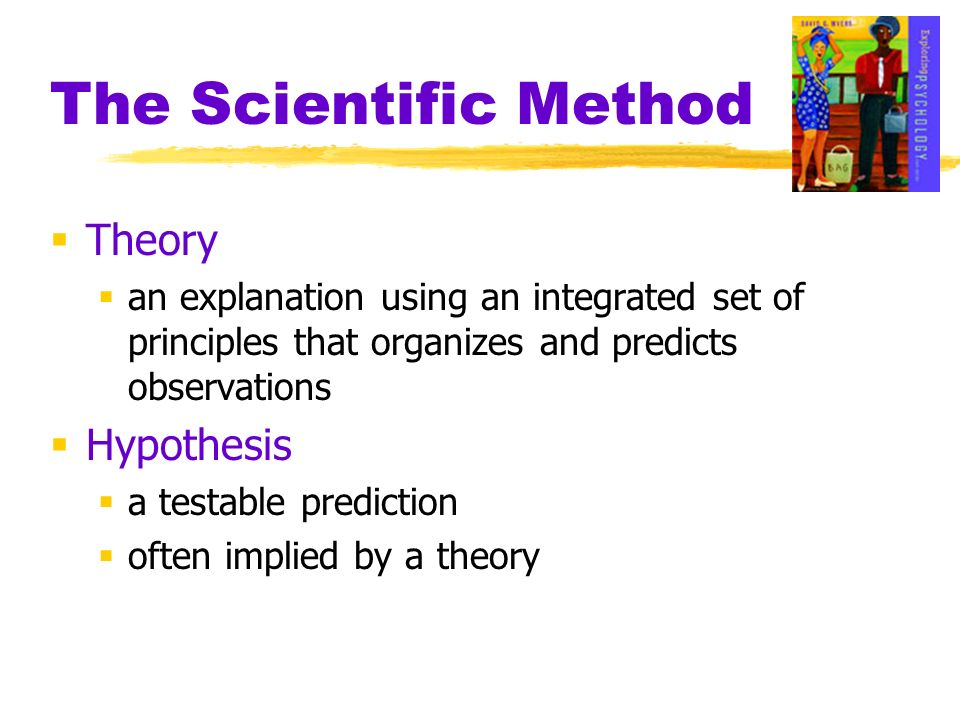 The Scientific Method Theory Hypothesis