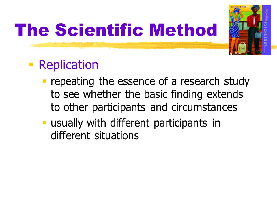 The Scientific Method Replication