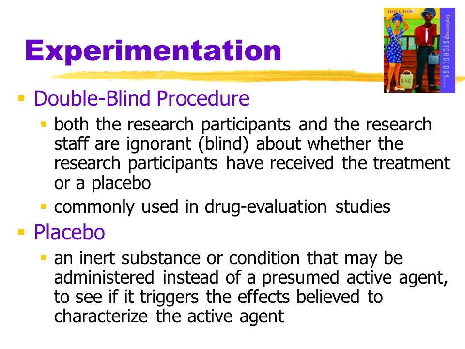 Experimentation Double-Blind Procedure Placebo