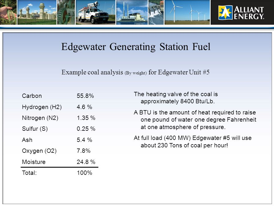 Edgewater Generating Station Fuel