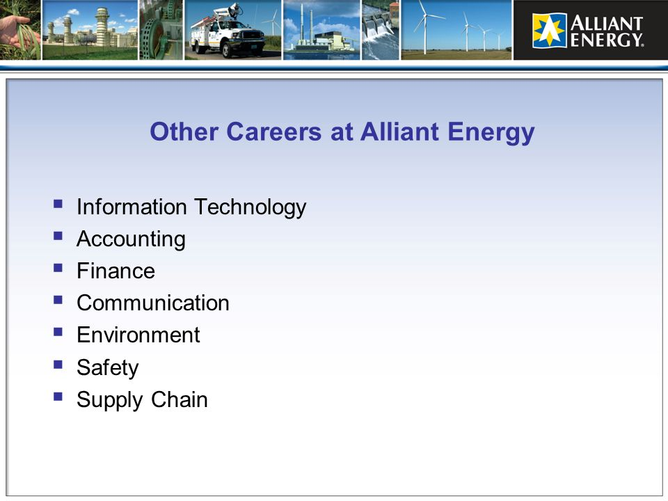 Other Careers at Alliant Energy