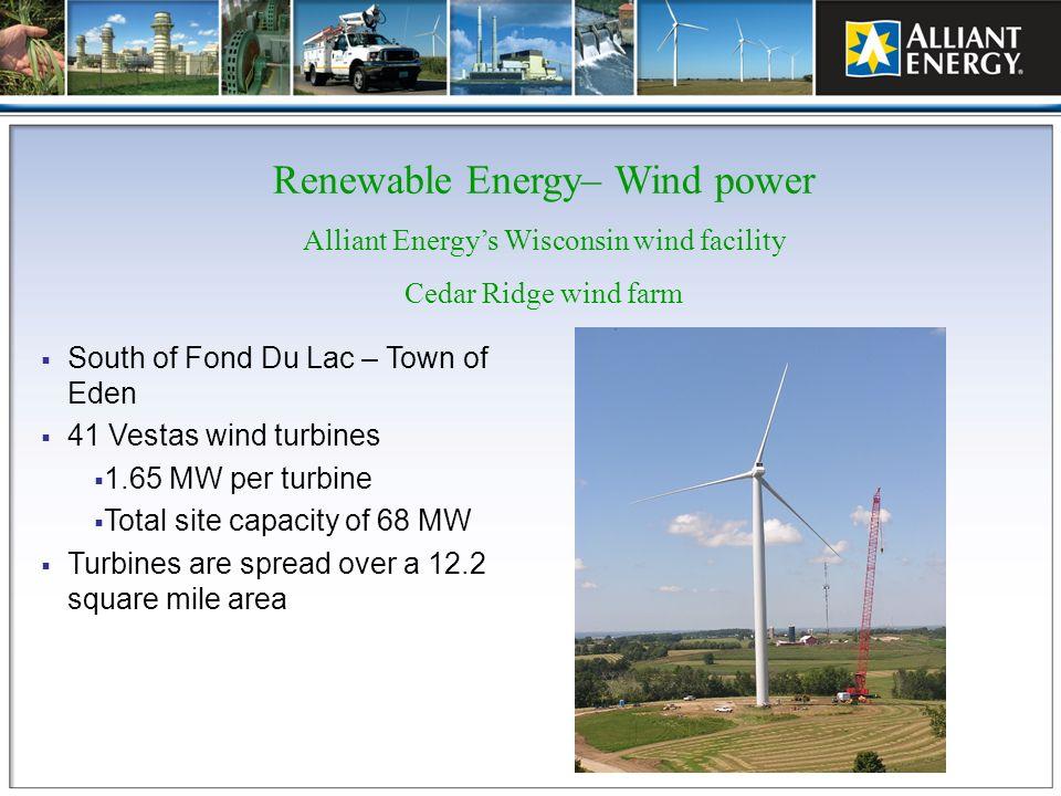Renewable Energy– Wind power