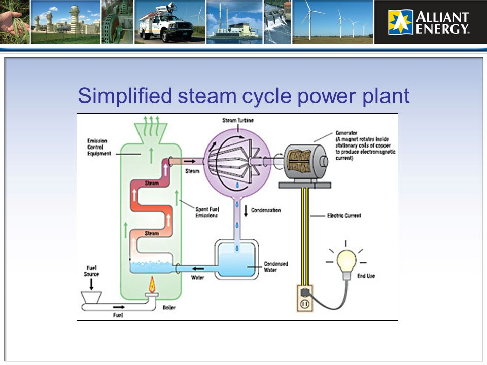 Simplified steam cycle power plant