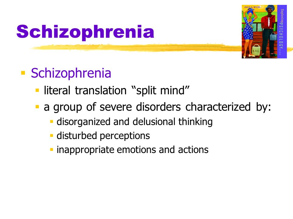 Schizophrenia Schizophrenia literal translation split mind