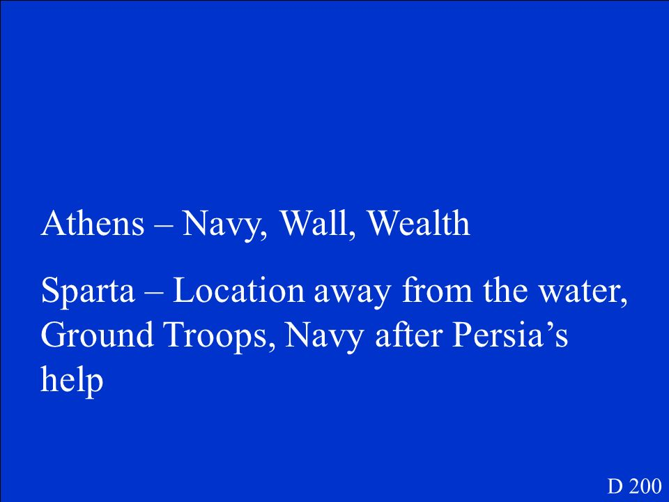 Athens – Navy, Wall, Wealth