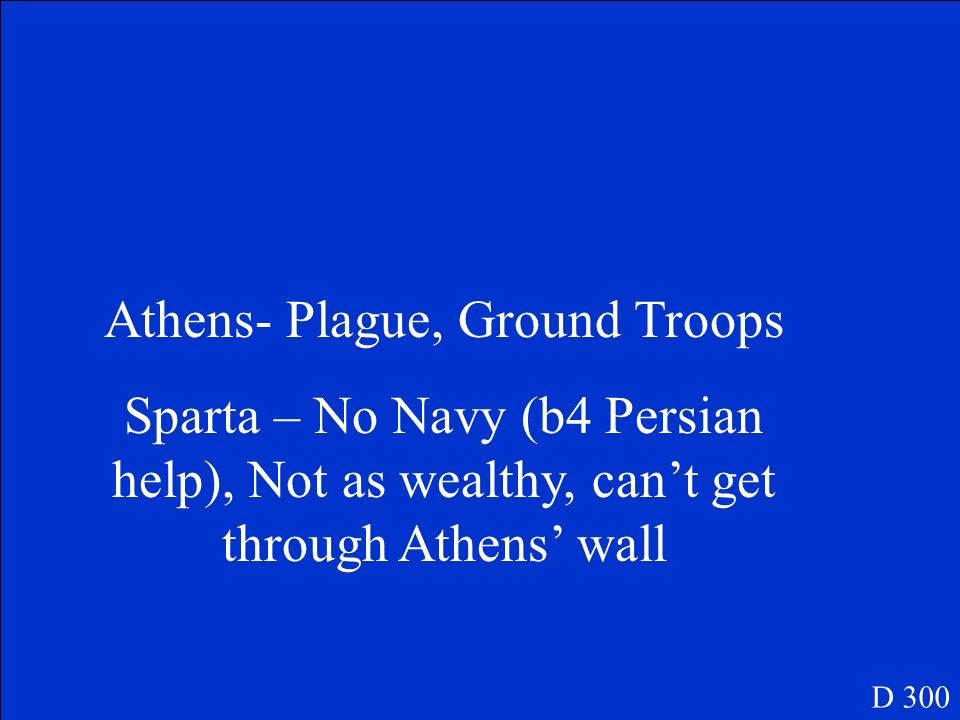 Athens- Plague, Ground Troops