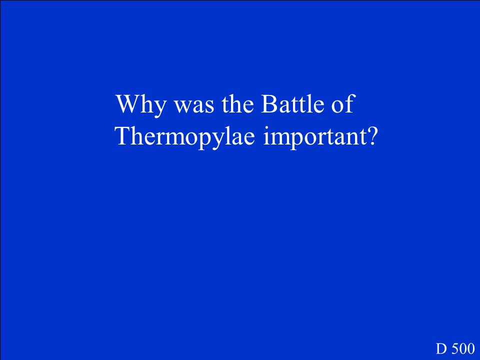 Why was the Battle of Thermopylae important