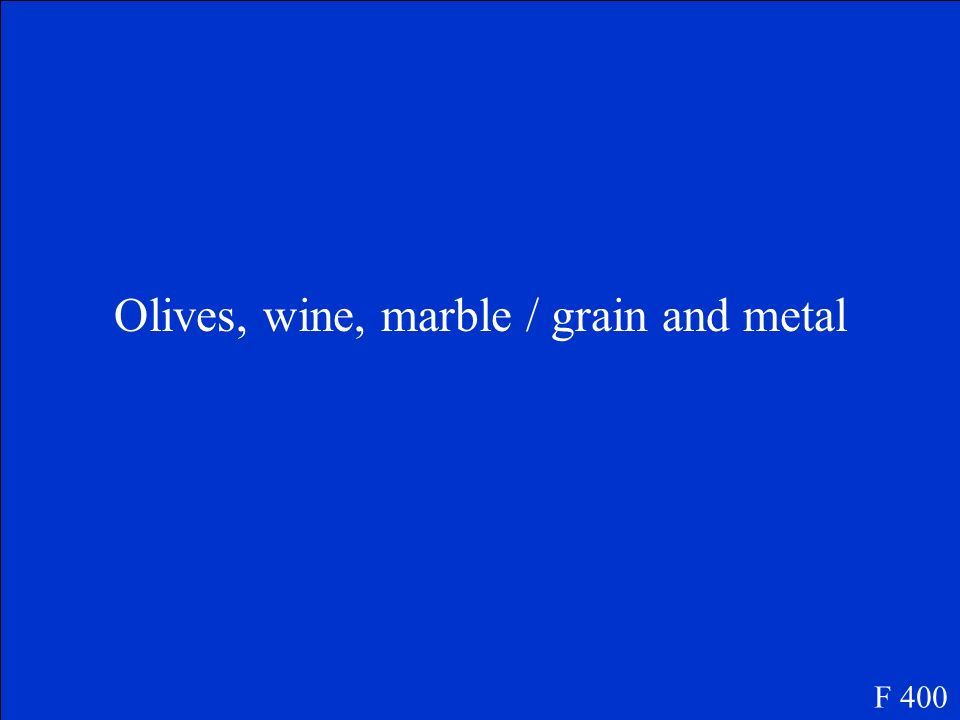 Olives, wine, marble / grain and metal