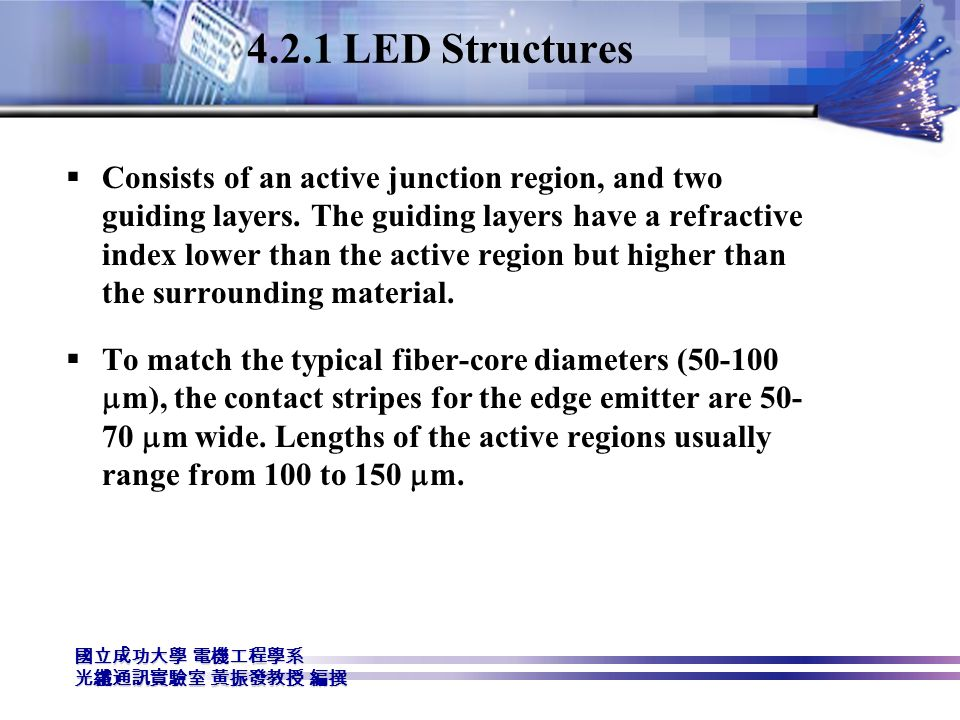 4.2.1 LED Structures