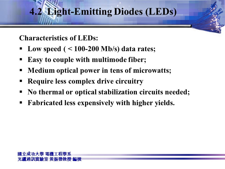 4.2 Light-Emitting Diodes (LEDs)