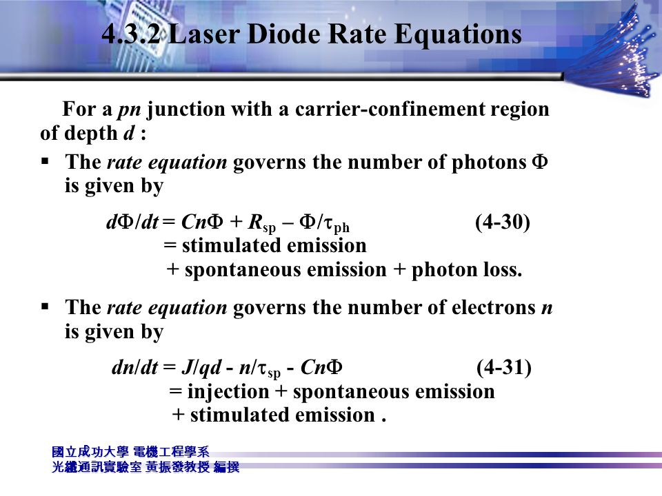 4.3.2 Laser Diode Rate Equations