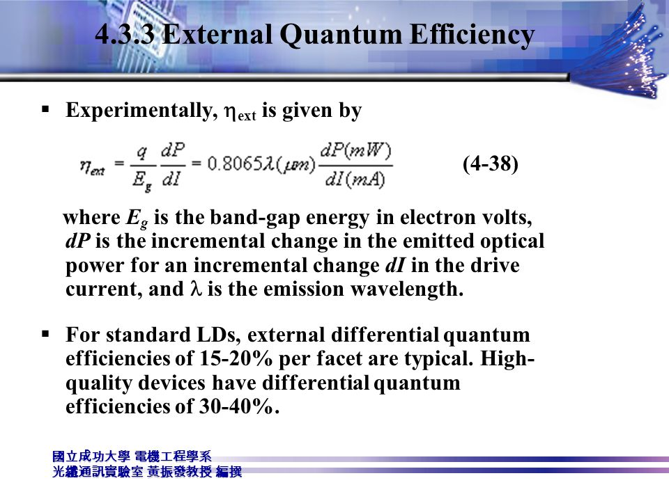 4.3.3 External Quantum Efficiency