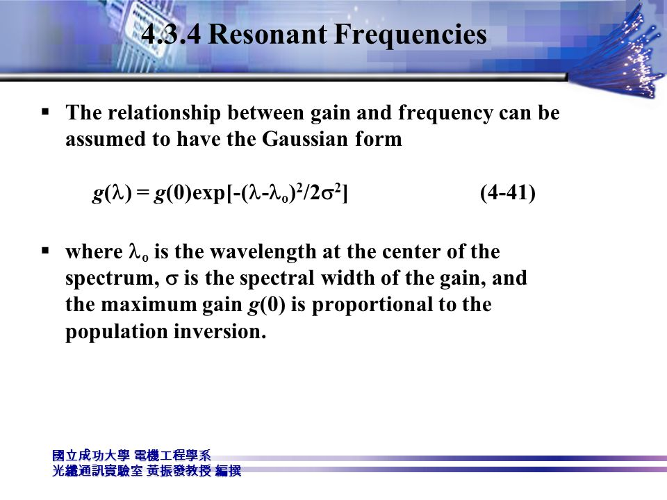 4.3.4 Resonant Frequencies