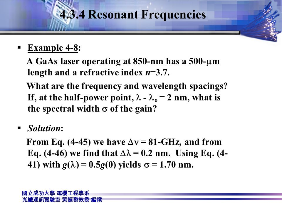4.3.4 Resonant Frequencies Example 4-8: