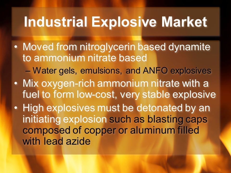 industrial explosives blasting 133 explosives detonation  this section deals mainly with pollutants resulting from the detonation of industrial explosives  blasting cap is not powerful.