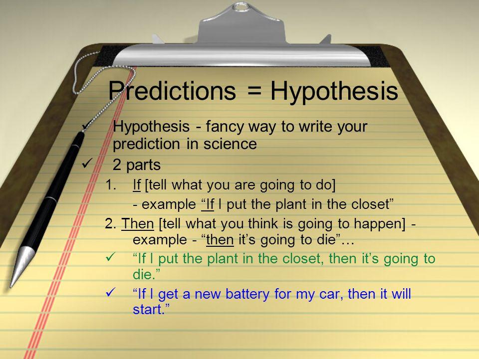 Predictions = Hypothesis