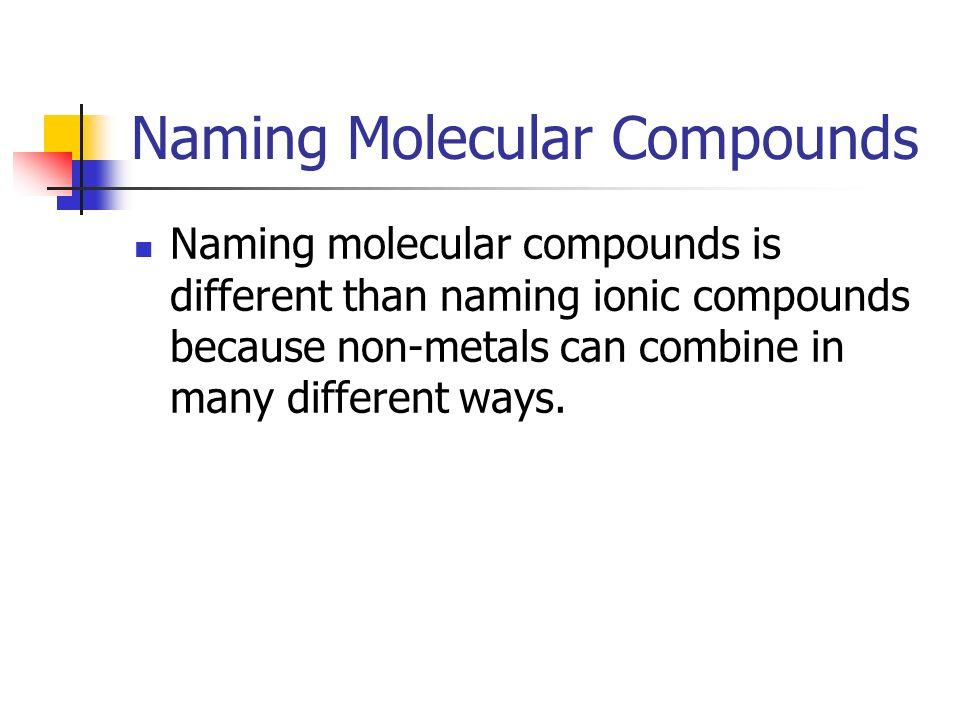 22 MOLECULAR COMPOUNDS p ppt download – Naming Molecular Compounds Worksheet