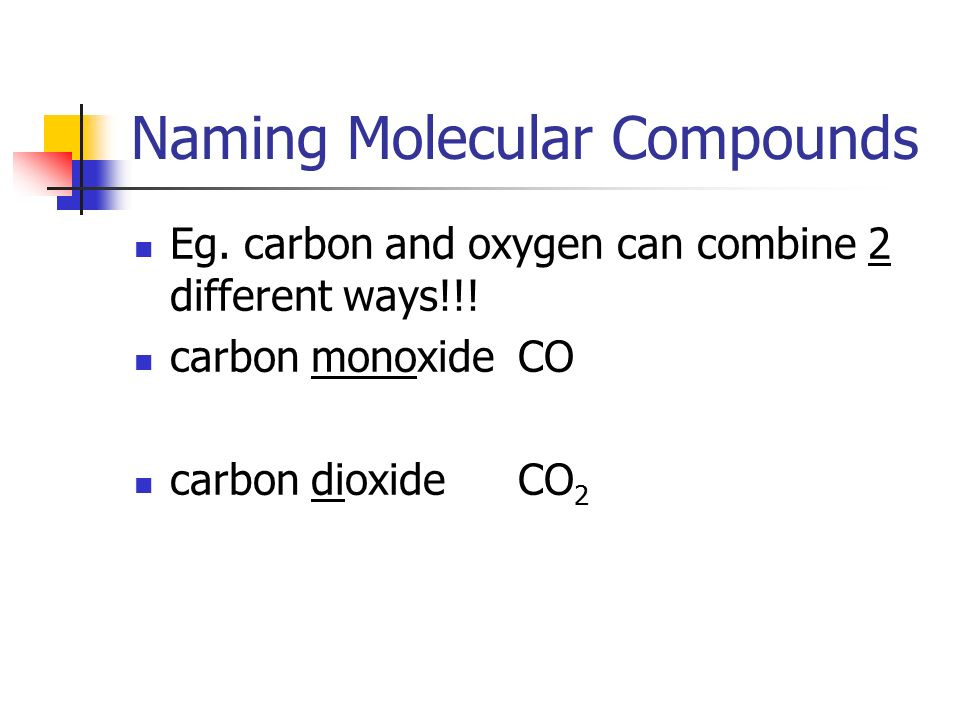 2.2) MOLECULAR COMPOUNDS (p ) - ppt download