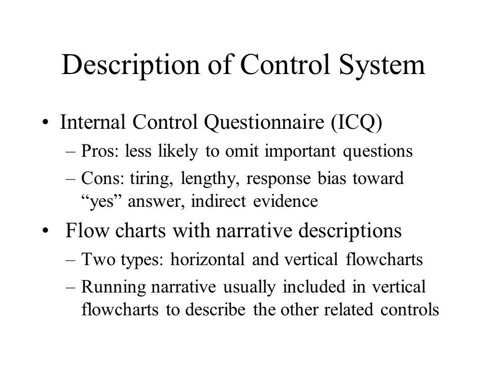 sample internal control narrative description