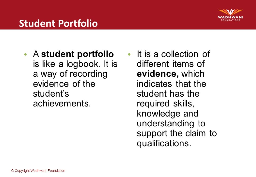 the importance of a portfolio A teaching portfolio is an important tool for a teacher to have in the education field a teacher can outline his or her accomplishments within their portfolio in order to gain a higher-level position in the work force.