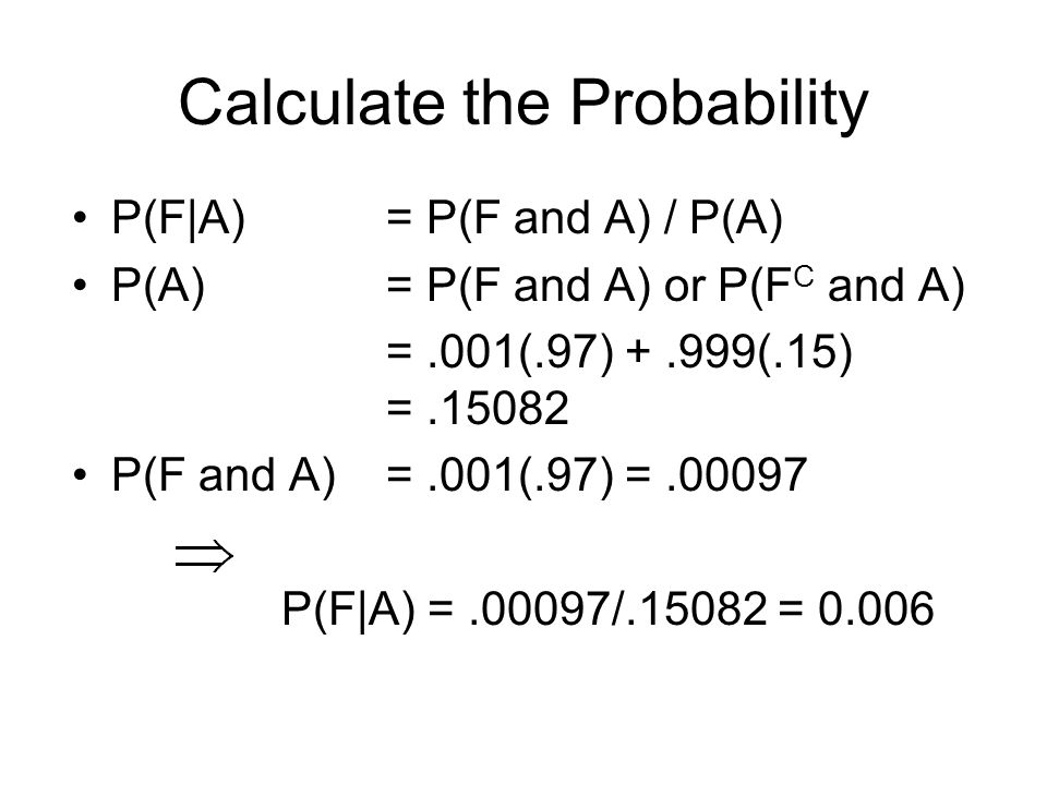 Calculate the Probability