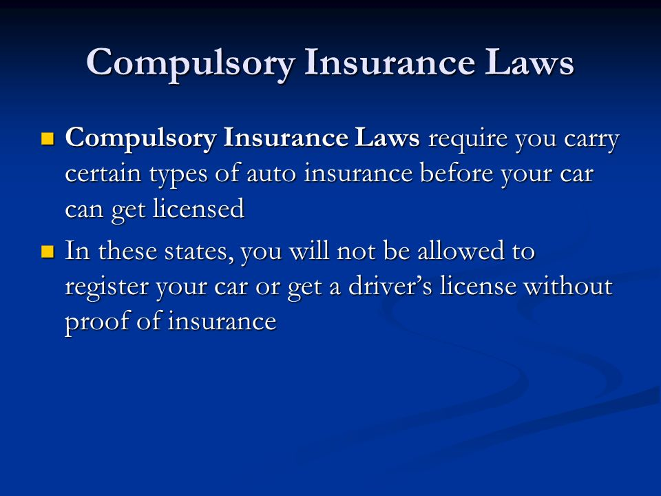 No Fault Insurance States >> Chapter 38 Vehicle Insurance. - ppt download