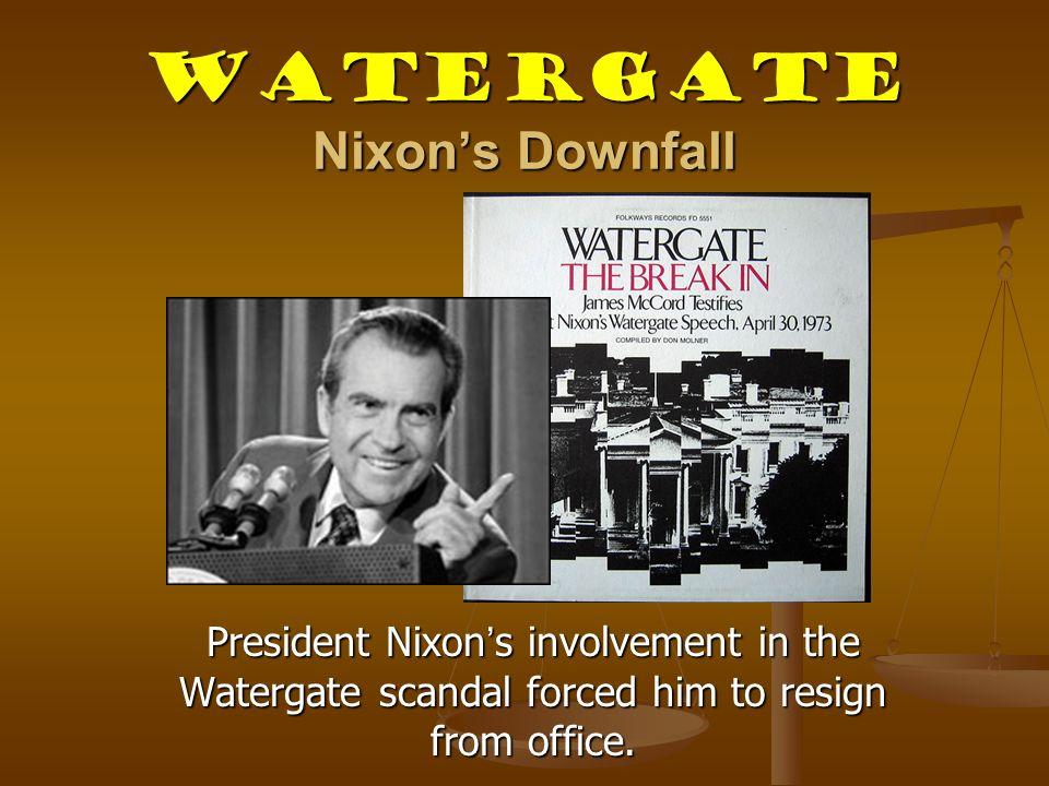 Watergate Nixon's Downfall