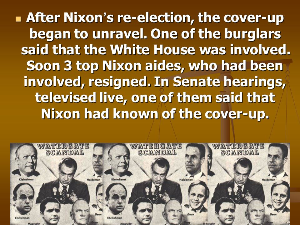 After Nixon's re-election, the cover-up began to unravel