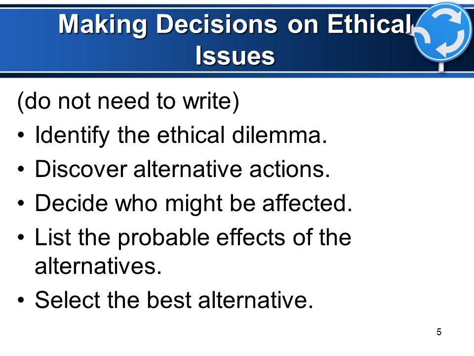 making ethical and unethical decisions Lessons regarding ethics and diversity for society to reflect upon and expand our   research on ethical decision-making argues that ethical/unethical behavior is.