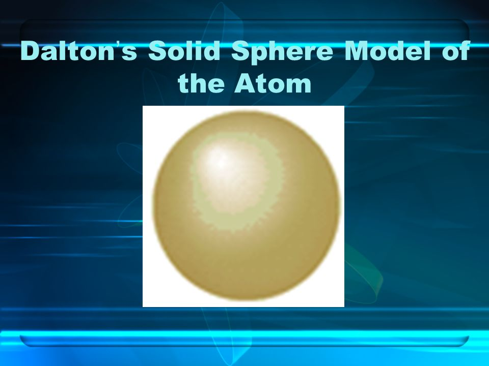 Dalton's Solid Sphere Model of the Atom