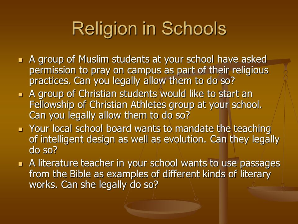 how to teach religion in schools
