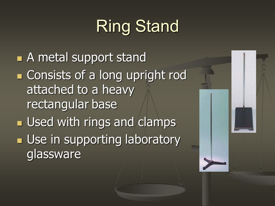 Ring Stand A metal support stand
